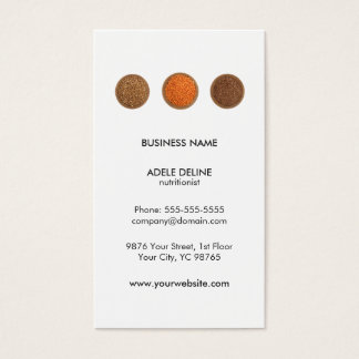 Modern Clean Seeds Health Nutritionist Business Card