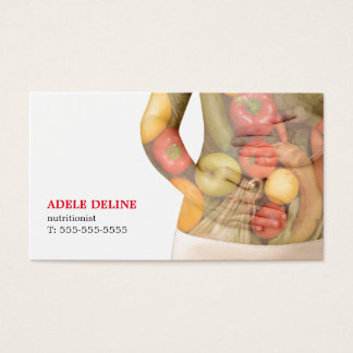 Modern Clean Vegetables Body Nutritionist Business Card