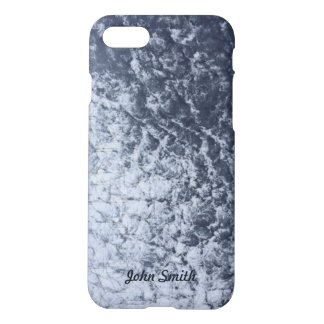 Modern clouds sketch texture with custom name iPhone 8/7 case