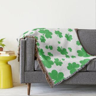 Modern clover throw blanket, St. Patrick's Day