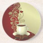 Modern Coffee Lover Beverage Coasters