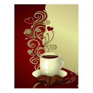 Modern Coffee Lover Postcard