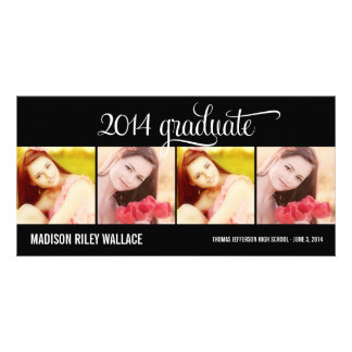 Modern Collage Graduation Announcement Photo Card