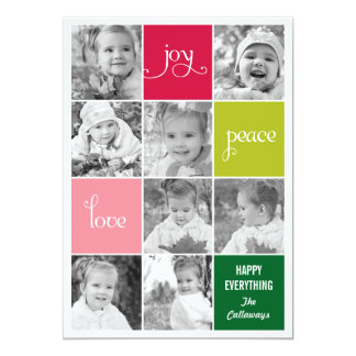 Modern Collage Holiday Photo Cards 13 Cm X 18 Cm Invitation Card