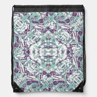 Modern Collage Pattern Mosaic Drawstring Bag