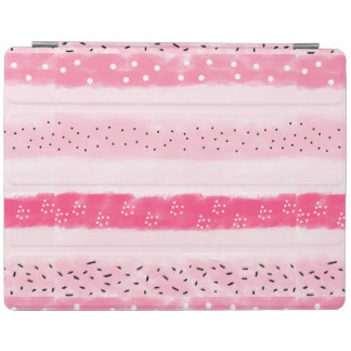 modern color block stripes white pink brushstrokes iPad cover
