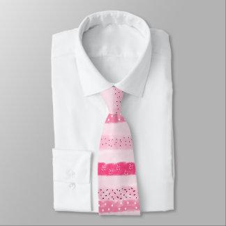 modern color block stripes white pink brushstrokes tie
