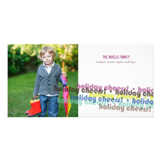 Modern Color Holiday Cheers Greetings Photo Card