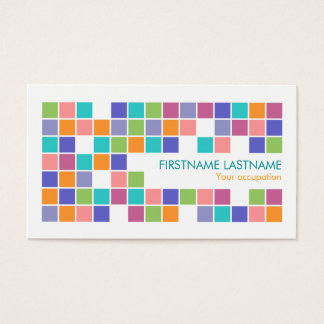 Modern Color Tiles Mosaic Profile Business Card