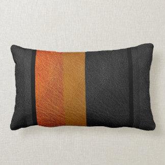 Modern Colorblock Leather Look Lumbar Pillow