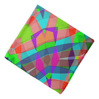 Modern Colorful Abstract Art Pattern Bandana