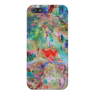 Modern Colorful Abstract Artistic Background. iPhone 5 Case