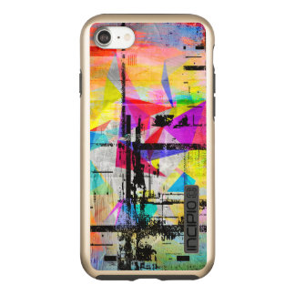 Modern Colorful Abstract Geometric Art Incipio DualPro Shine iPhone 8/7 Case