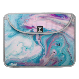 Modern Colorful Abstract Marble Swirls Sleeve For MacBooks