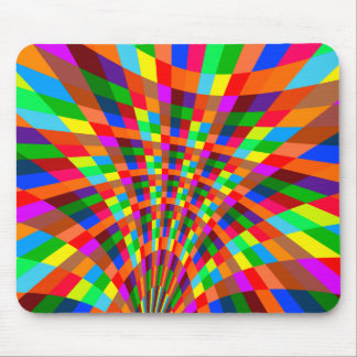 Modern Colorful abstract Pattern colors blue red Mouse Pad