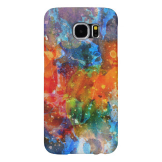 Modern Colorful Abstract Watercolors Background G6 Samsung Galaxy S6 Cases