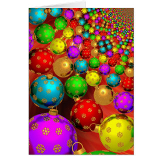Modern Colorful Christmas Ornaments Greeting Card