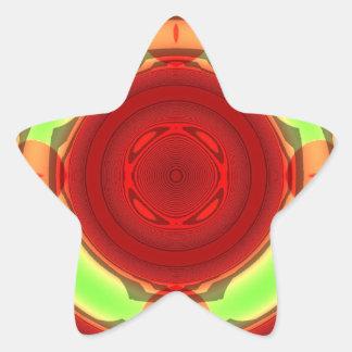 Modern colorful circle star sticker