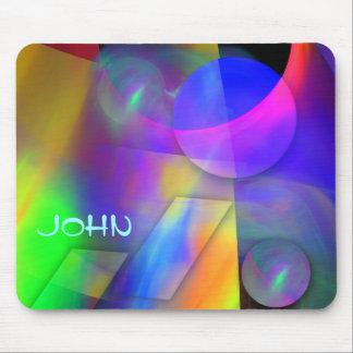 Modern Colorful Custom Name Mousepad