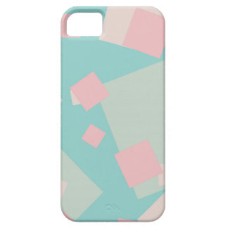 Modern colorful cyan and pink boxes pattern barely there iPhone 5 case