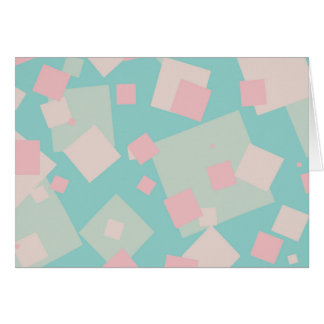 Modern colorful cyan and pink boxes pattern card