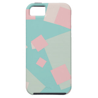 Modern colorful cyan and pink boxes pattern case for the iPhone 5