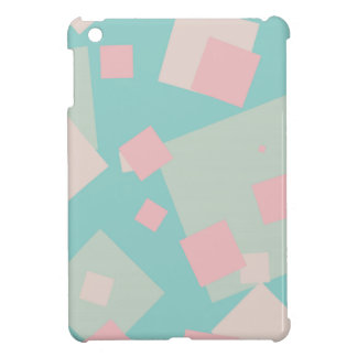 Modern colorful cyan and pink boxes pattern cover for the iPad mini