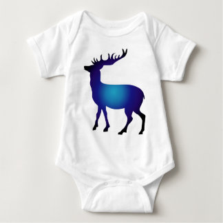 Modern colorful deer baby bodysuit