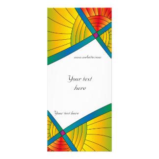 Modern colorful design custom rack cards