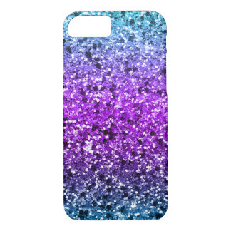 Modern Colorful Faux Glitter iPhone 8/7 Case