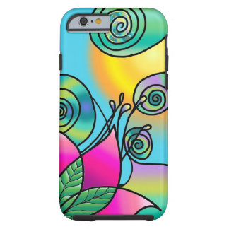 Modern Colorful Flower Design iPhone 6 case