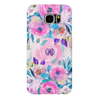 Modern Colorful Flowers Collage Design GR1 Samsung Galaxy S6 Cases