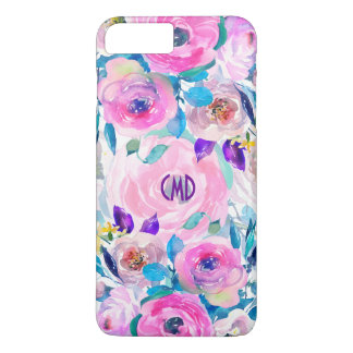 Modern Colorful Flowers Collage Pattern GR1 iPhone 8 Plus/7 Plus Case