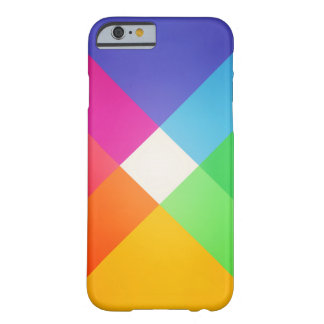 Modern Colorful Geometric Abstract Pattern Barely There iPhone 6 Case