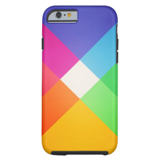 Modern Colorful Geometric Abstract Pattern Tough iPhone 6 Case
