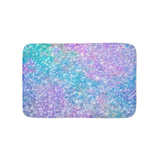 Modern Colorful Glitter Texture Bath Mat