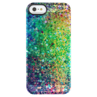 Modern Colorful Glitter Texture Print GR1 Clear iPhone SE/5/5s Case