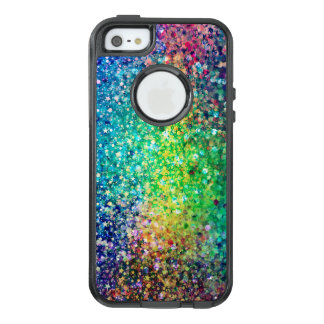 Modern Colorful Glitter Texture Print OtterBox iPhone 5/5s/SE Case