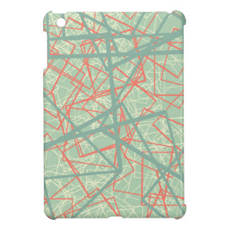 Modern colorful green and orange boxes pattern iPad mini case