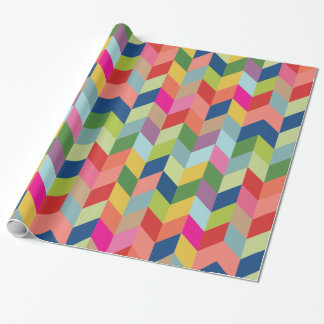 Modern Colorful Herringbone Gift Wrap