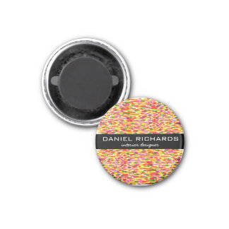 Modern Colorful Interior Designer Branding 3 Cm Round Magnet
