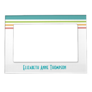 Modern Colorful Lines Personalized Frame