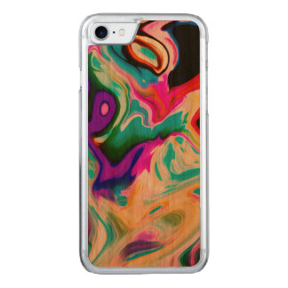 Modern Colorful Marble Swirls Pattern 2 Carved iPhone 8/7 Case
