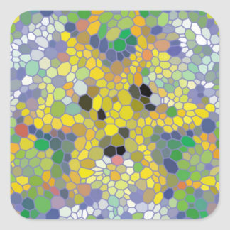 Modern colorful mosaic stickers