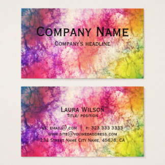 Modern Colorful Nebula Template Business Card