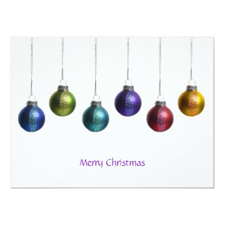 Modern Colorful Ornaments Christmas Greeting Card