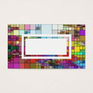 modern colorful pattern business card template