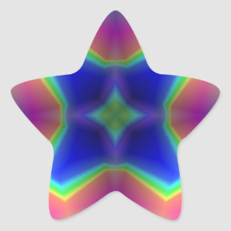 Modern colorful pattern star sticker