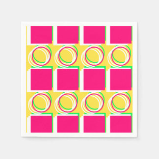 Modern Colorful Pink Yellow Pattern 4Gabby Paper Napkin