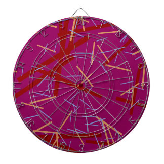 Modern colorful purple line pattern dartboard